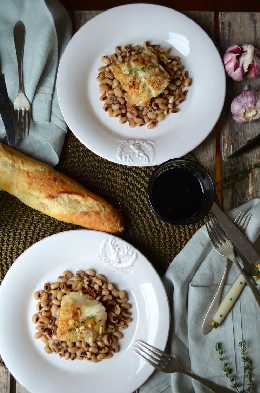 Braised cod white beans, Mama ía blog