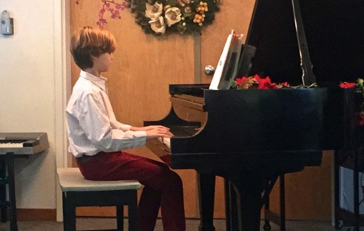 David, piano recital, Mama ía blog