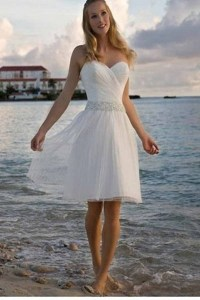Cotton beach wedding dress