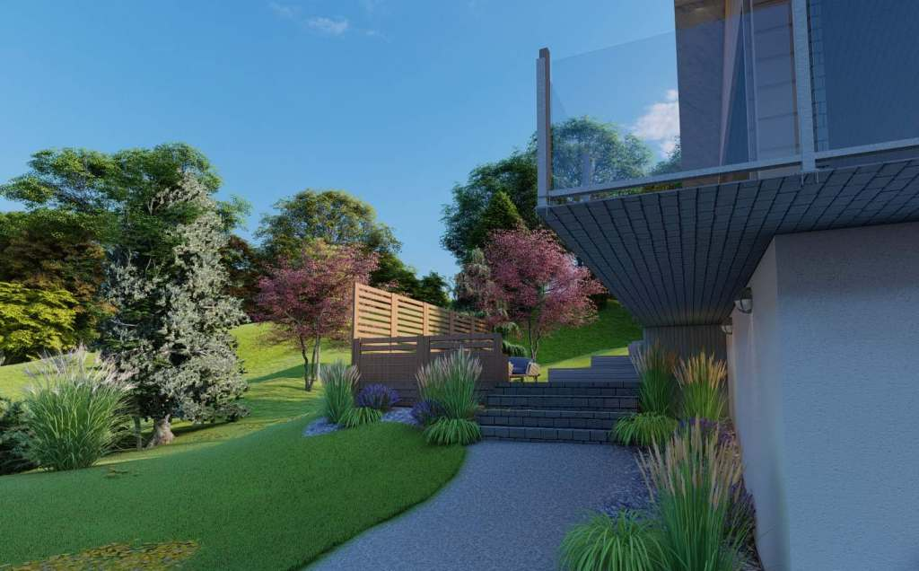 3d trädgårdsdesign stenlagd entré natalia lindberg trädgårdsarkitekt