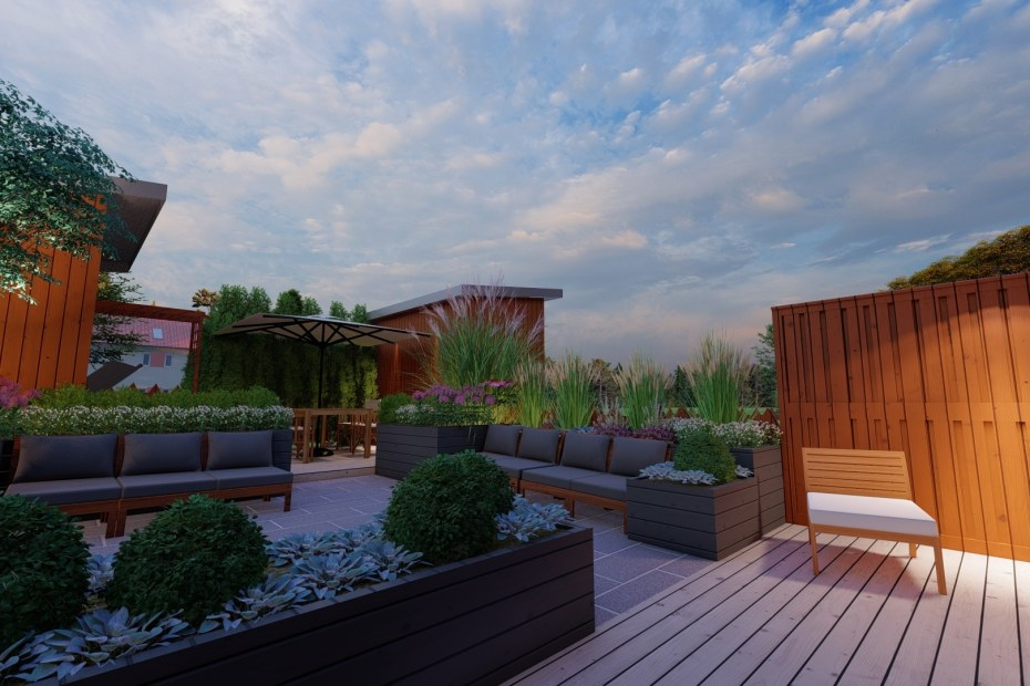 Belysningsplan radhusträdgård - Natalia Lindberg trädgårdsdesign