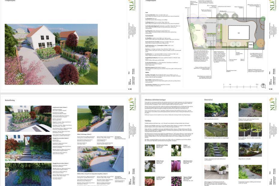 Natalia Lindberg trädgårdsdesign - Komplett trädgårdsplan exempel