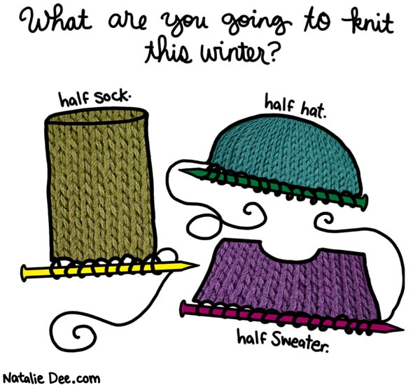 i plan to half knit quite a bit this winter