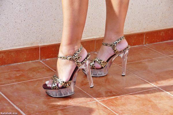 NatalieK xxx hotwife porn adult outdoors high heels