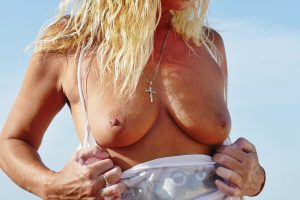 NatalieK xxx hotwife porn adult outdoors titsout tits