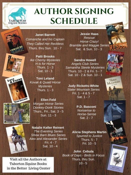 equine affaire book signing 2019