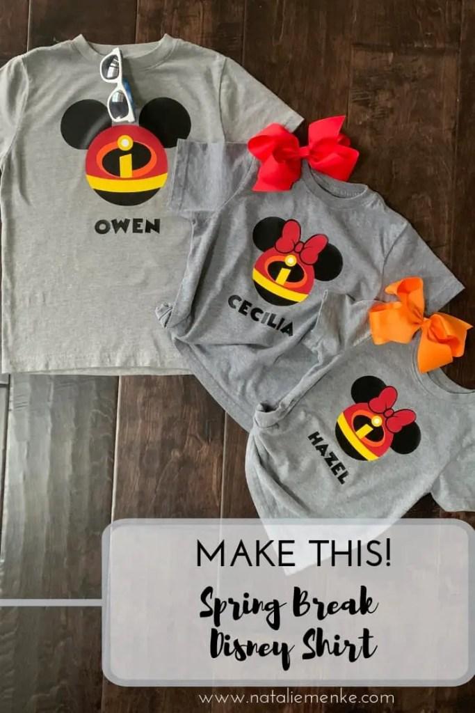 Make this Spring Break Disney shirt using the Cricut tutorial at NatalieMenke.com