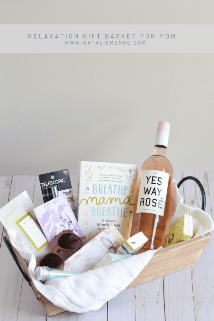 Give the gift of relaxation to a mom on the first day of school. Build your own relaxation gift basket for mom using the suggestions found at www.nataliemenke.com