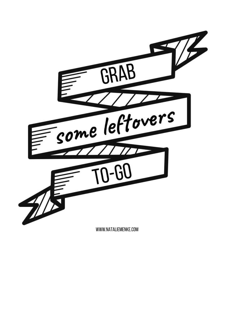 Leftover station hostess gift basket free sign download by Natalie Menke