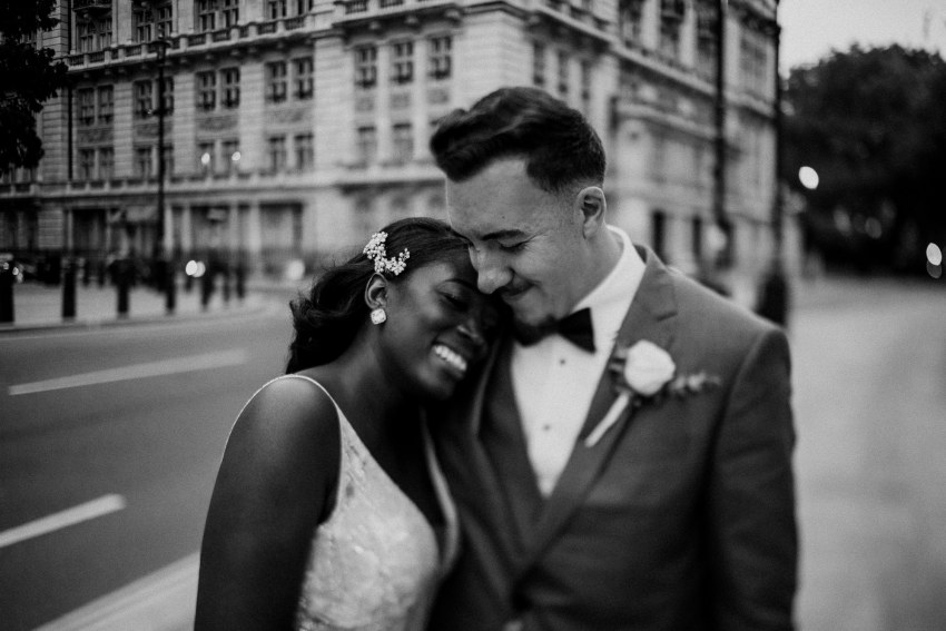 Elegant London wedding at the Corinthia Hotel, with a stunning Berta dress and golden Jimmy Choo's. Beautiful city portraits in the heart of London. Timeless elegance and relaxed couples portraits. Laid back London Wedding photographer. Photographed by Natalie Pluck. To see more from this wedding click here: http://www.nataliepluck.com/elegant-london-wedding/ #londonwedding #londonweddingphotographer #corinthiawedding #corinthiaweddingphotographer #laidbackelegance #laidbackweddingphotography #canadianportuguesewedding #minimalweddingphotography #minimalistweddings #minimalistweddingphotography #westminsterweddings #westminsterweddingphotography