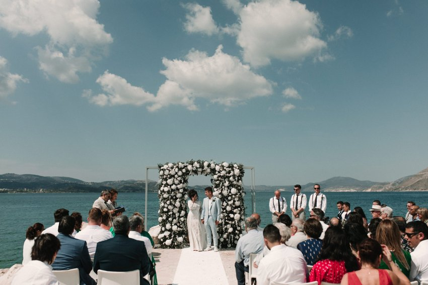 Romantic Wedding in Kefalonia at Katavathores club, with a stunning Grace Loves Lace wedding dress. Beautiful portraits by the agean sea. Relaxed couples session with all of the dancing. Romantic Kefalonia wedding photography. Photographed by Natalie Pluck. To see more from this wedding click here: http://www.nataliepluck.com/romantic-wedding-in-kefalonia/ #romanticweddingkefalonia #kefaloniawedding #graceloveslace #graceloveslaceweddingdress #laceweddingdress #relaxedweddinggreece #relaxedweddingphotography #kefaloniaweddingphotographer #kefaloniaweddingphotography #katavathoreswedding #katavathoresclub #romanticweddinginspiration #laidbackweddingphotography #weddingphotographyinspiration #greekweddings #weddingsingreece #weddingsbythesea #weddingbytheocean #weddinginspiration #weddinginspiration2019
