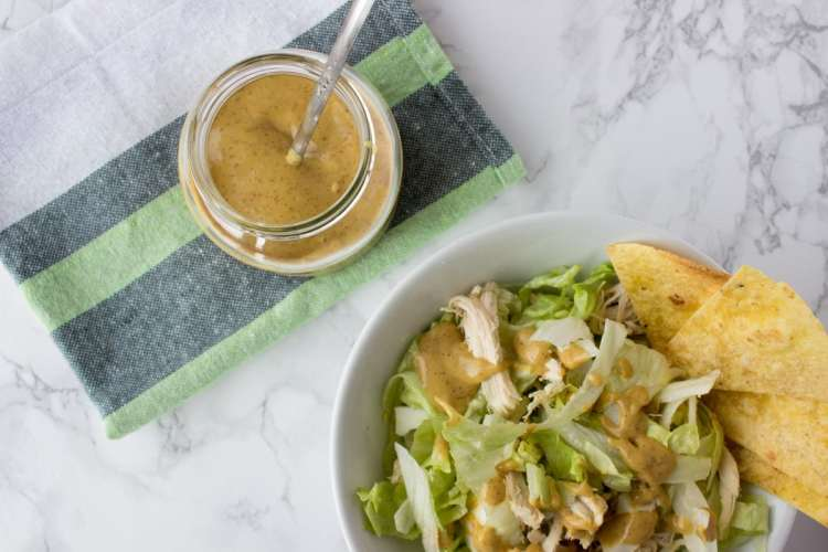 Mustard with honey and ginger salad dressing | www.natalieshealth.com