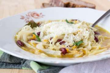 Super healthy and rich in taste, White Wine Cabbage Stew made with fresh cabbage, enriched with freshly grated Parmesan cheese. CLICK to grab recipe or PIN for later! | Natalie's Food & Health