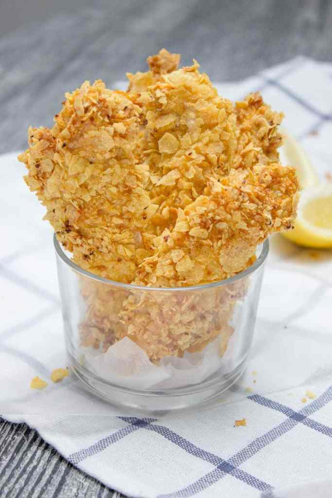 Crispy Baked Cornflake Chicken Tenders made without added fat are the perfect low-calorie, quick and HEALTHY family meal. Served with homemade Honey Dijon Sauce, these tenders are delicious gameday finger food too. CLICK to read more or PIN for later!