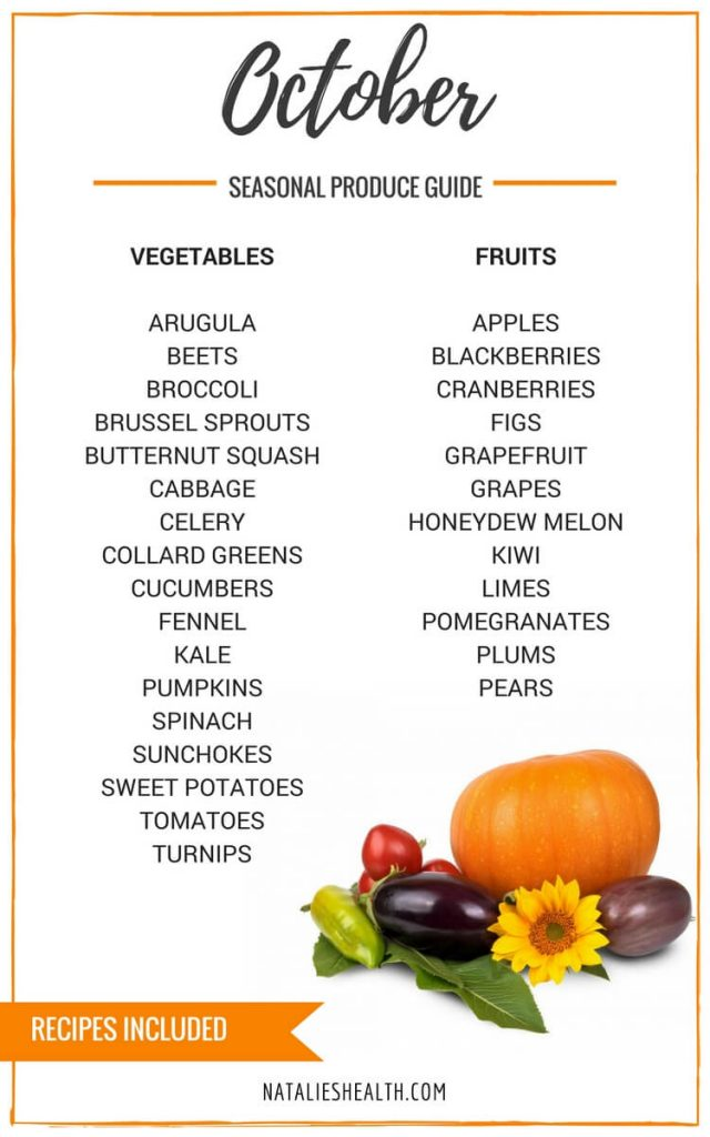 Whats in season OCTOBER  Natalies Health