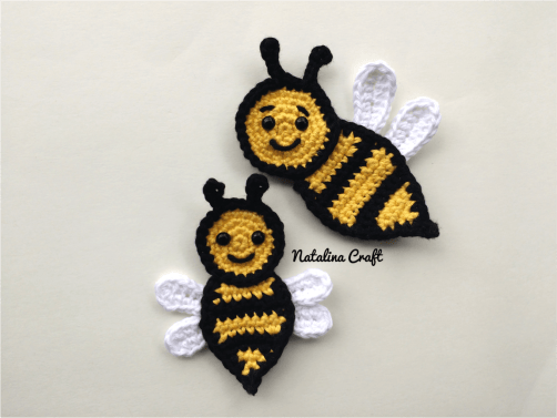 Free Crochet Bee Pattern - Grace and Yarn | 377x502