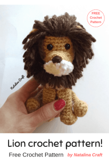 Free Crochet Lion Pattern - thefriendlyredfox.com | 326x217
