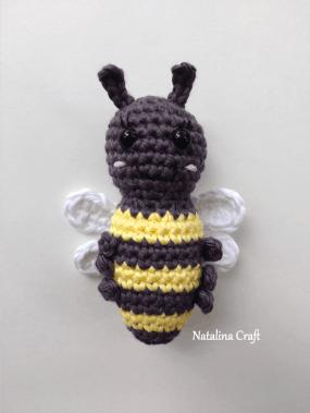 Crochet Amigurumi Bee Free Pattern by REDAGAPE | 379x285