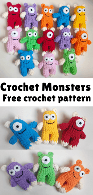 Free Crochet monster Patterns,Free Crochet Huggy Monsters-I have ... | 625x300