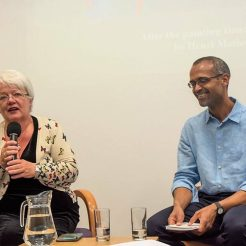 An Evening in Conversation with a Poet, with Nadia Kerecuk. Embaixada do Brasil, Londres, 25.04.2017. Foto: Beth Kress.
