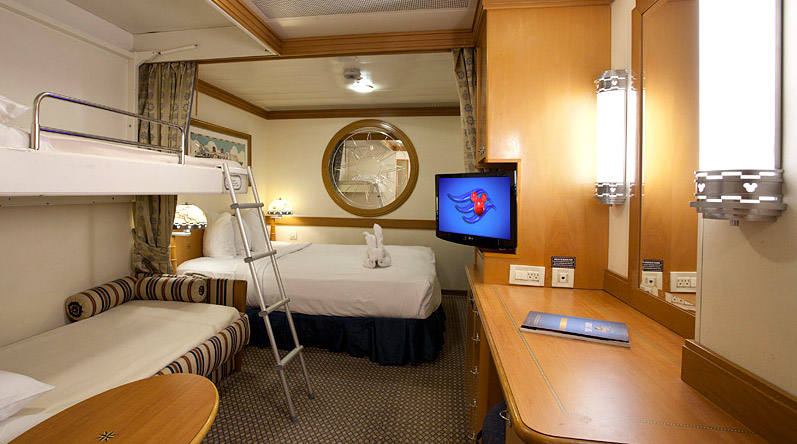 Cabine Interna de Luxo - Disney Wonder