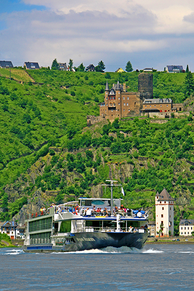 Avalon Felicity on the Rhine River, St. Goar, Germany, river cruising