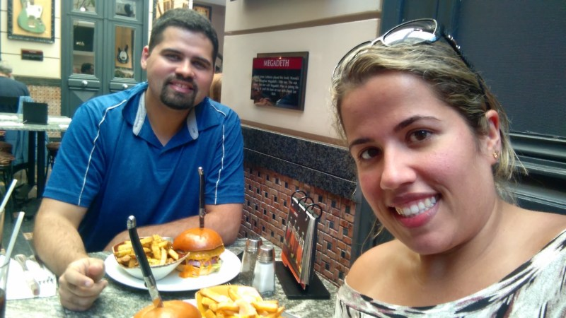 Os Hamburguers do Hard Rock Café