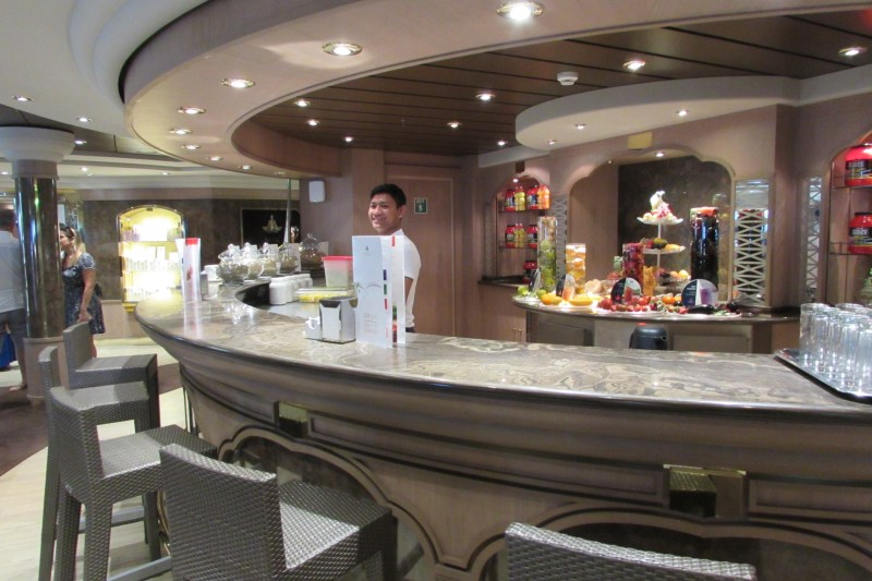 Bar dentro do Spa do MSC Magnifica