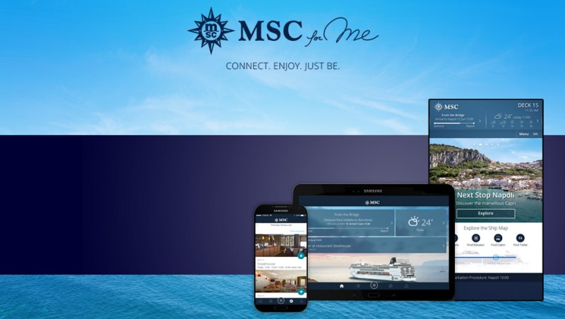 Aplicativo da MSC Cruzeiros - MSC for Me