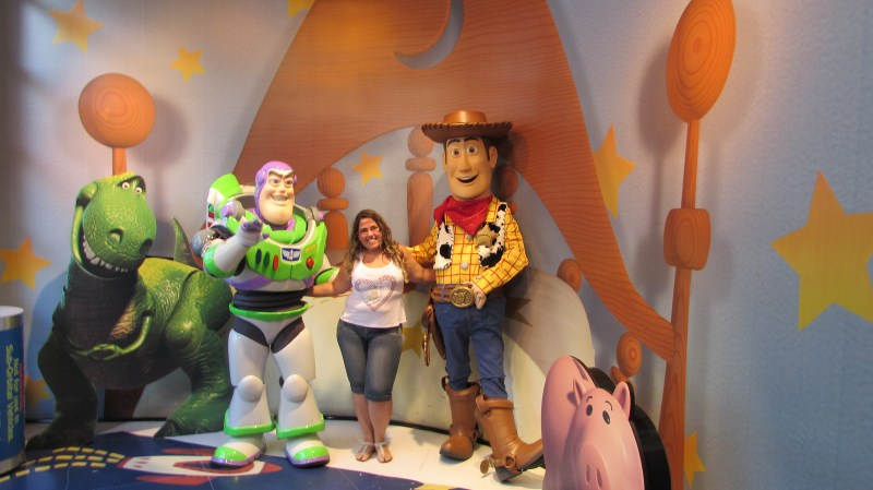 Wood e Buzz Lightyear em Hollywood Studios