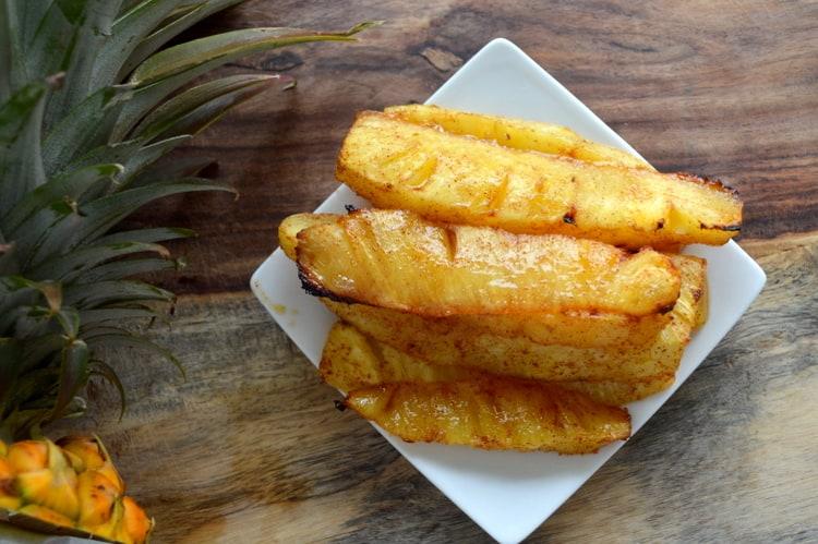 Roasted Pineapple with Cinnamon Honey Glaze