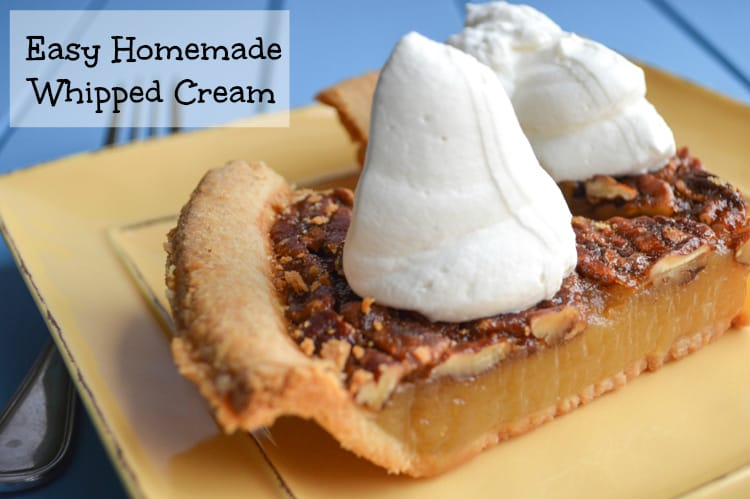 Easy Homemade Whipped Cream (that won't deflate after plating!)