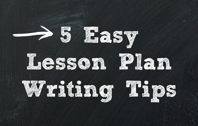 how to write a lesson plan to teach ong