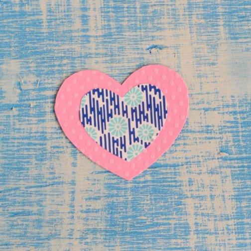 cut paper hearts