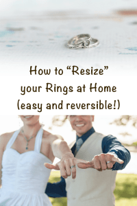 how to resize your rings at home