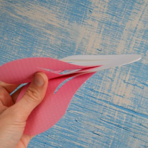 weaving the paper strips