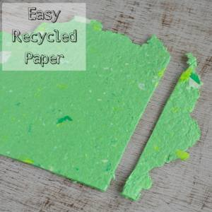 How to Make your Own Recycled Paper without a Mold or Deckle
