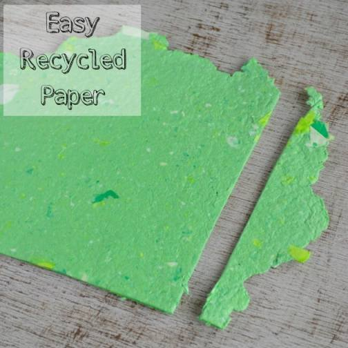 easy homemade recycled paper
