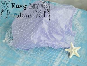 Easy DIY Bandeau Veil (for Wedding or Costume)
