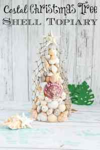 Costal Christmas Seashell Christmas Tree Topiary Tutorial