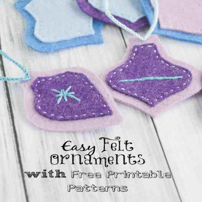 Easy Felt Christmas Ornaments w Free Printable Patterns