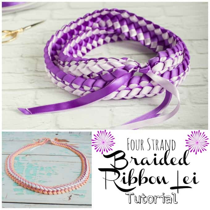 Braided Four Strand Ribbon Lei Tutorial