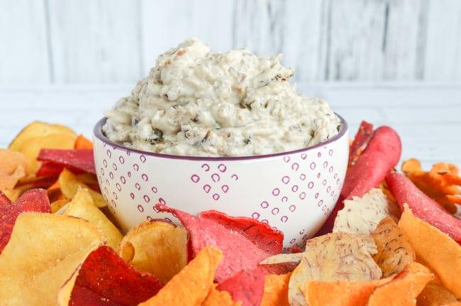 Healthier Greek Yogurt Onion Bacon Dip