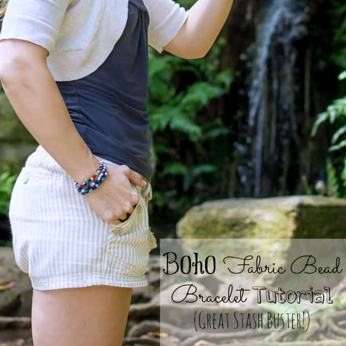 Boho Fabric Bead Bracelet Tutorial
