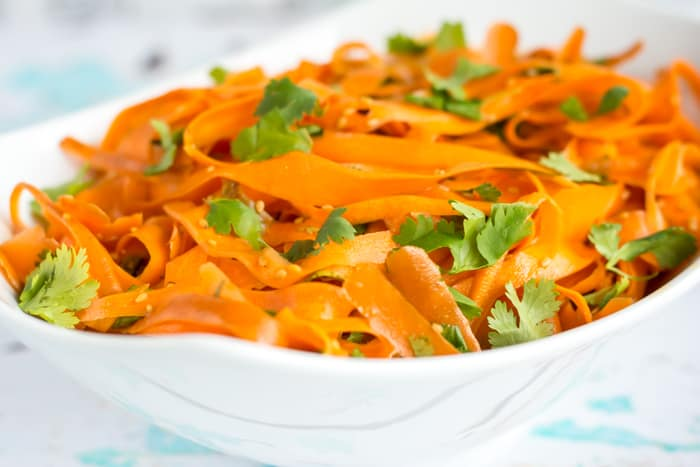 Asian-inspired Sesame Cilantro Carrot Salad