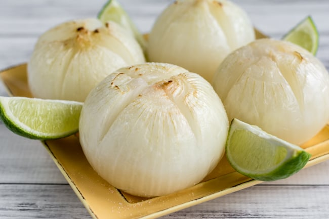 Salted Lime Roasted Mexican-Inspired Onions