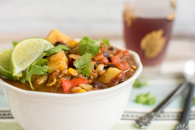 Vegatrian Sweet Potato Black Bean Chili