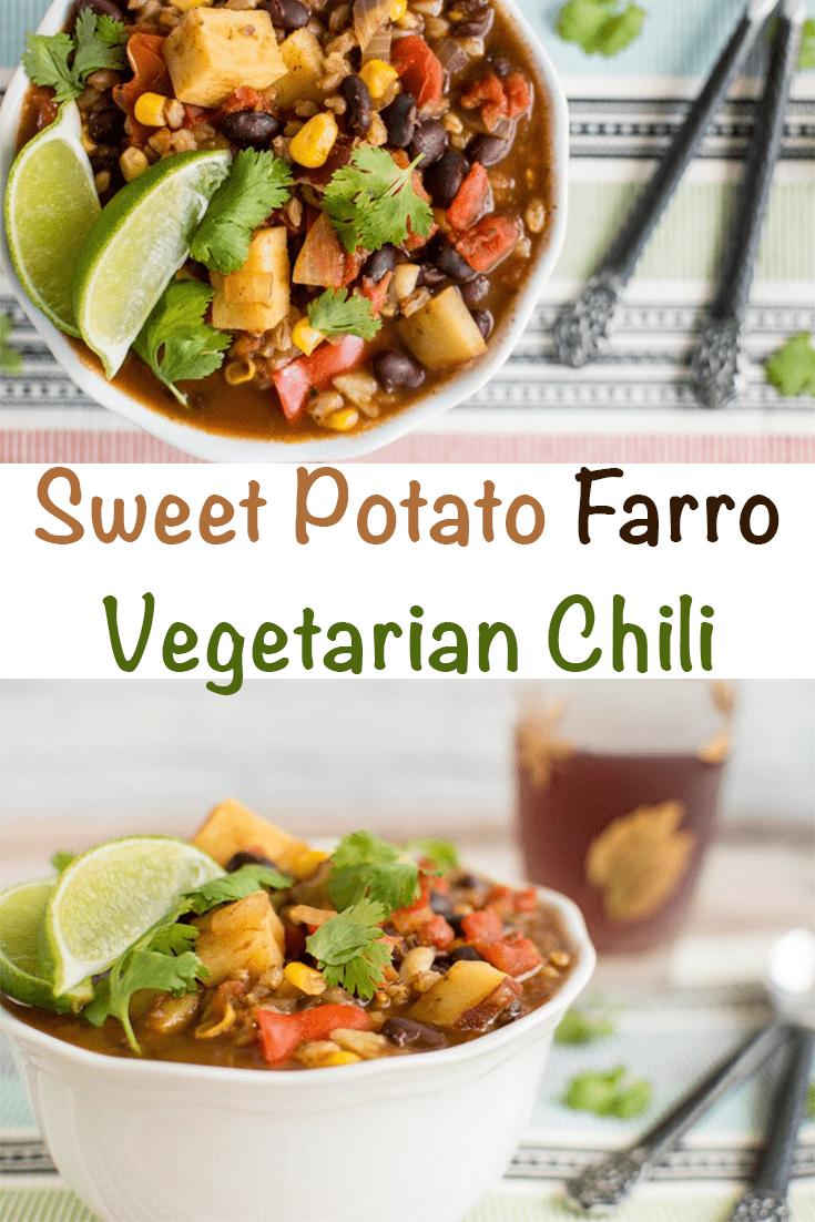 sweet potato farro vegetarian chili recipe