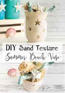 Sandy Texture Summer Beach Vase Tutorial - with free Silhouette Studio file!