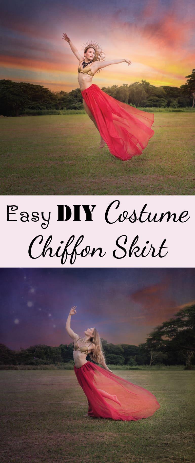 Easy DIY Costume Chiffon Skirt